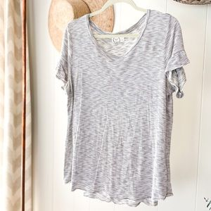 Striped Scoop Neck T-Shirt